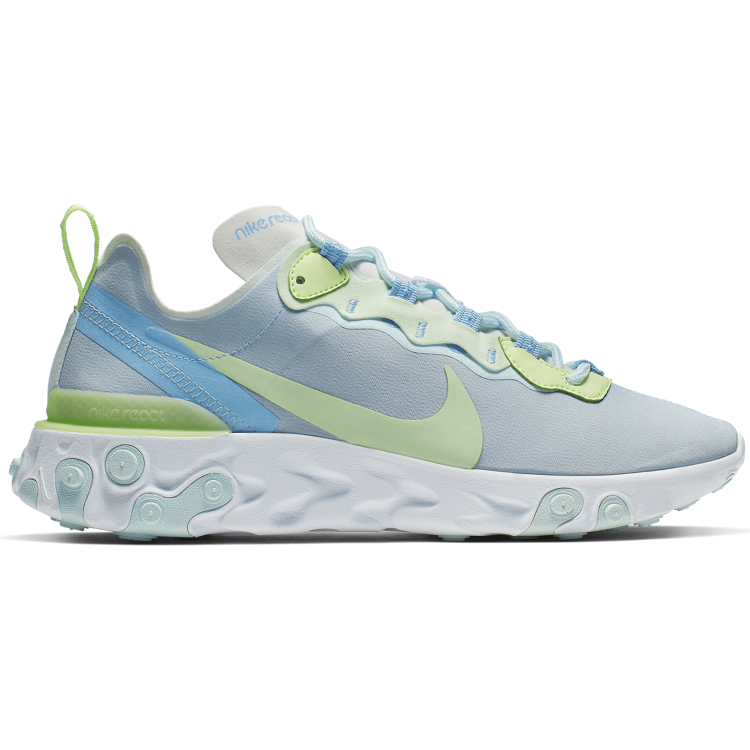 "Nike WMNS React Element 55 ""WHITE/FROSTED SPRUCE-BARELY VOLT"""