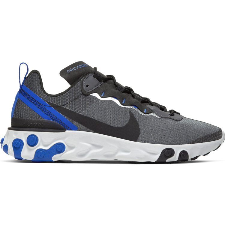 "Nike React Element 55 SE ""BLACK/RACER BLUE-SUMMIT WHITE"""