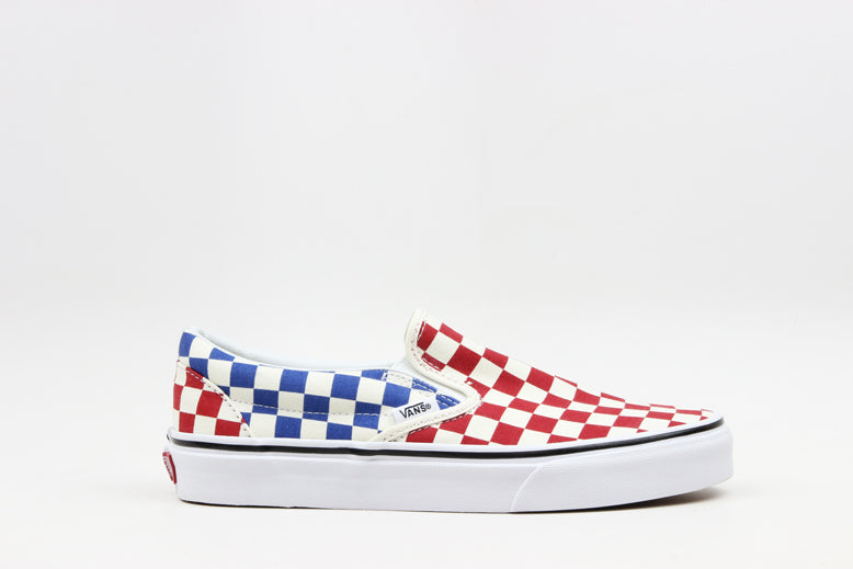 "Vans Slip-On Checkerboard ""Red/Blue"""