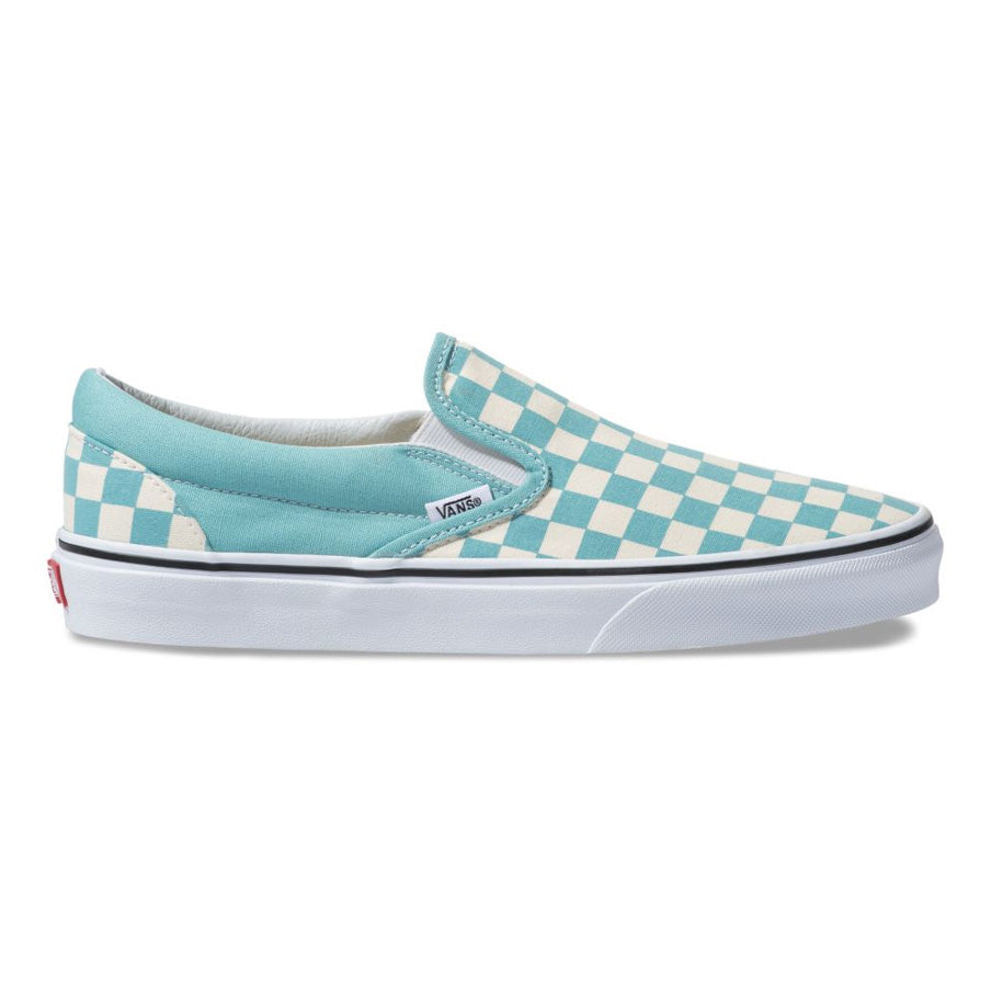 "Vans Classic Slip-On Checkerboard ""Aqua Haza/ Off White"""