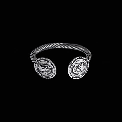 STERLING SILVER KING TUT BANGLE