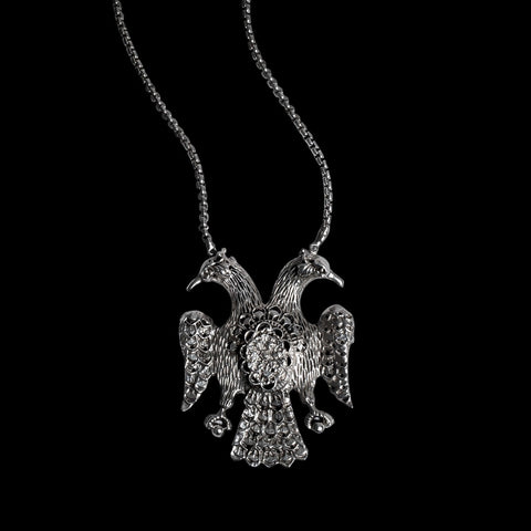 STERLING SILVER DOUBLE PHOENIX NECKLACE