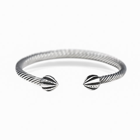 STERLING SILVER RETRO BANGLE
