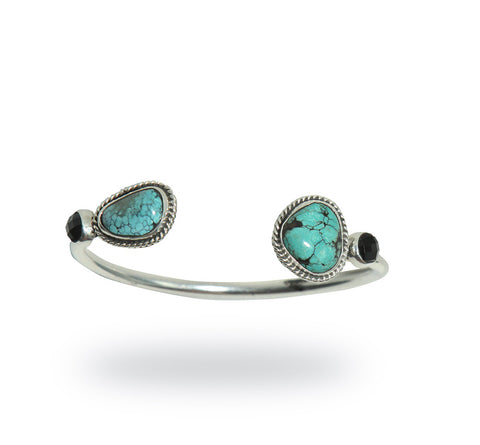 TURQUOISE & ONYX BANGLE