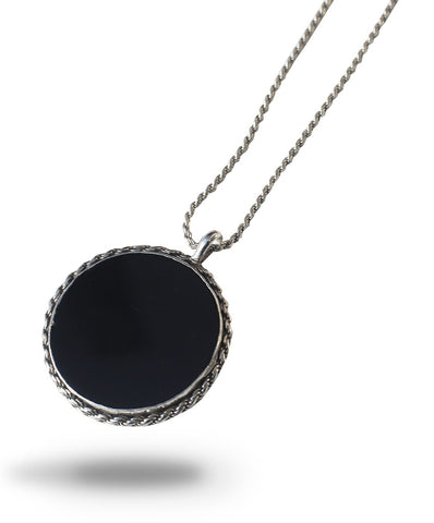 ONYX COIN NECKLACE