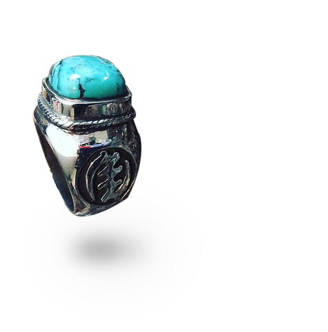 STRERLING SILVER TURQUOISE RING