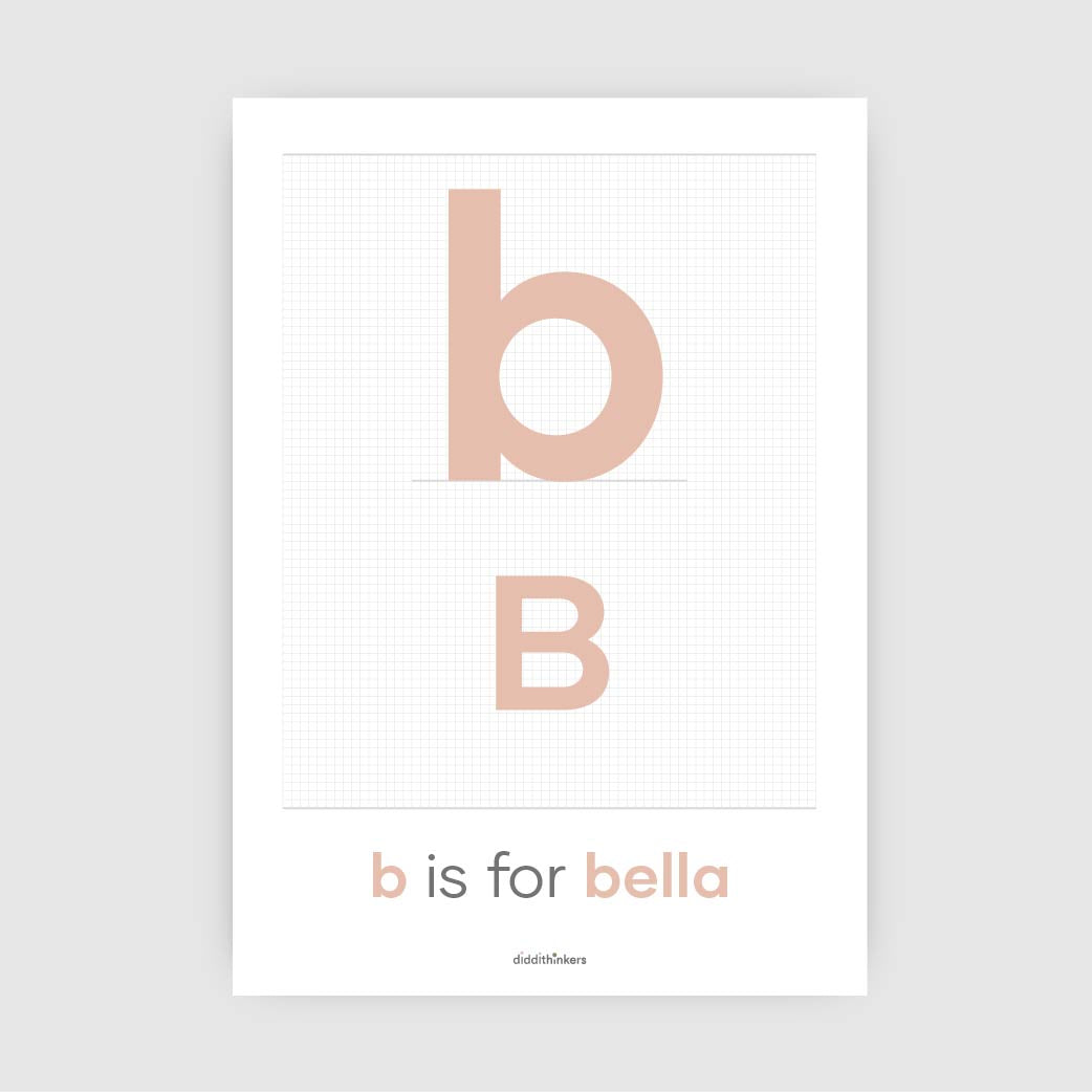 personalised initial print A4 or A3