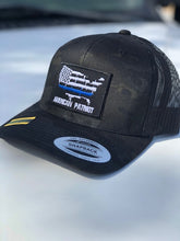 Load image into Gallery viewer, Thin Blue Line snap back hat