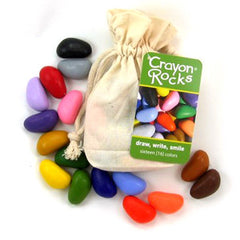 Crayon Rocks - 16 Colours in Cotton Muslin Bag