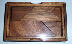 Letter T Puzzle in Wooden Box - Tangram Puzzle