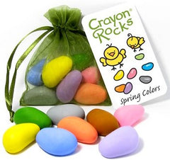 Crayon Rocks - 8 Pastels in a Spring Green Bag