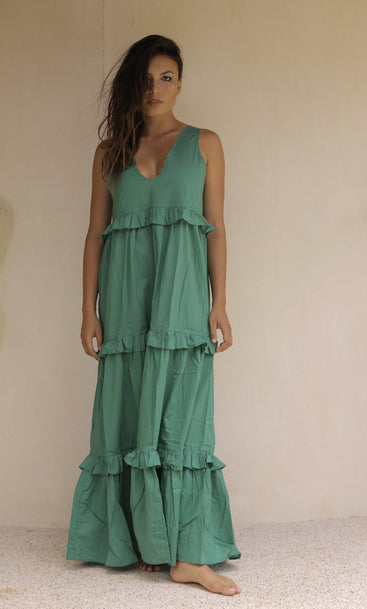 Beach Club Maxi Dress Island Green