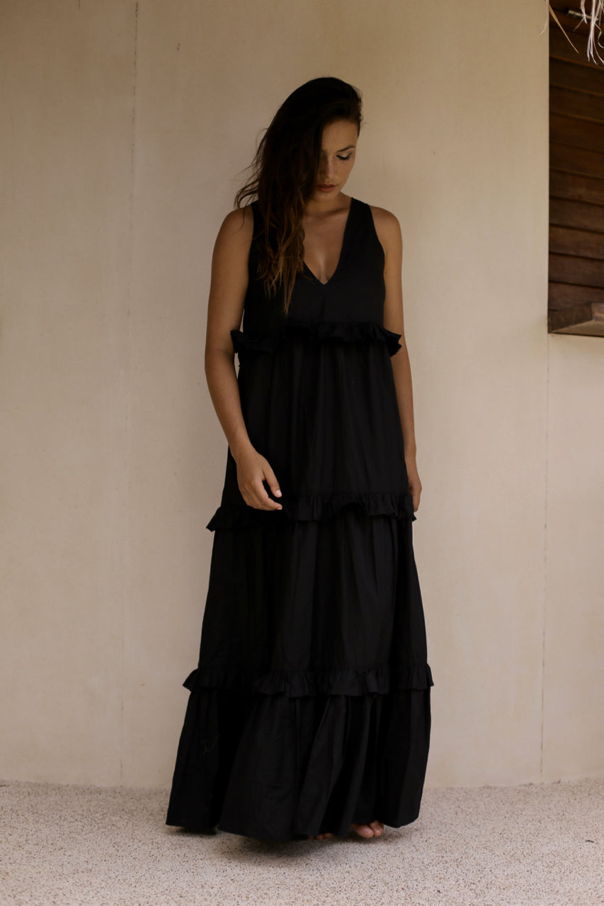 Beach Club Maxi Dress  Black