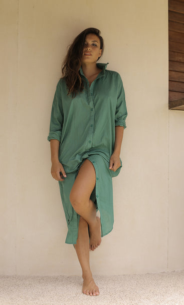 Beach Club Maxi Shirt Island Green