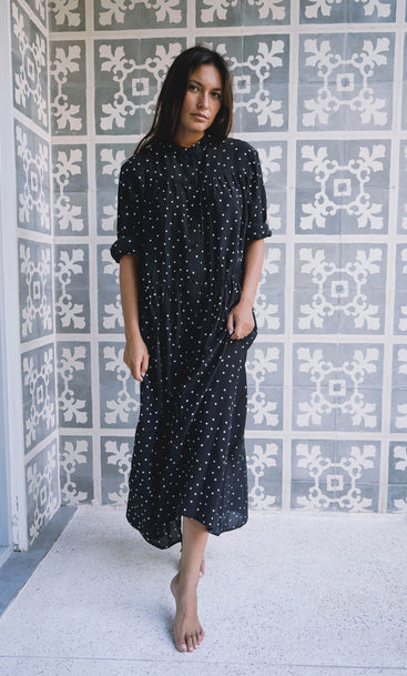 Island Nites Shirt Dress Star