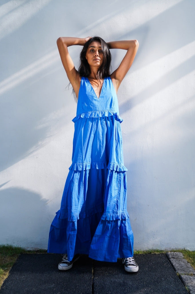Beach Club Maxi Dress Bukit Blue