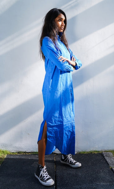 Beach Club Maxi Shirt Bukit Blue