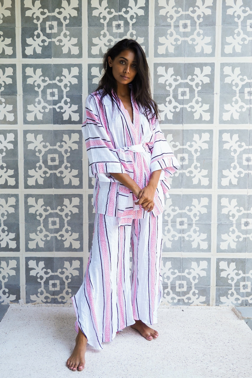 Beach Life Beach Robe White