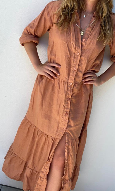 To Dye For Midi Dress Sunset Pink