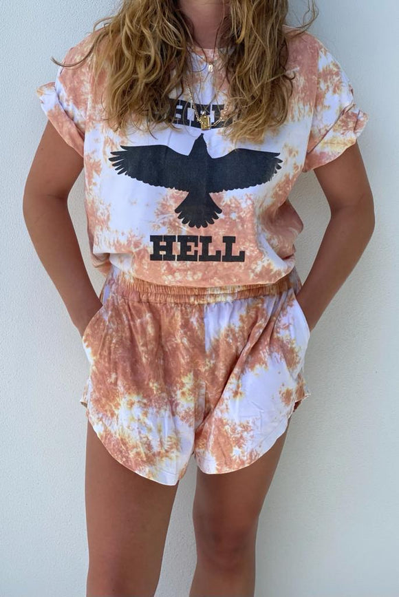 To Dye For Shell Hell Tee Apricot