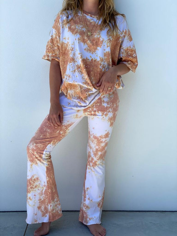 To Dye For Flare Pant Apricot