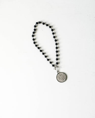 Onyx Liberty - Coin Pendant Necklace