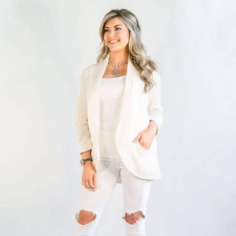 Brianna Light Khaki Linen Jacket