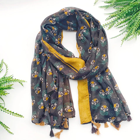 Summer Scarf - Yellow Flowers