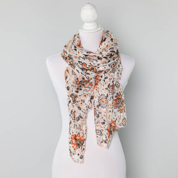 Summer Scarf - Flower Patterns