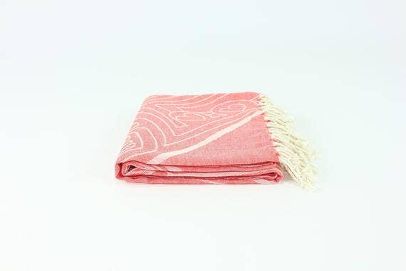 Red Premium Turkish Peshtemal Fouta Towel