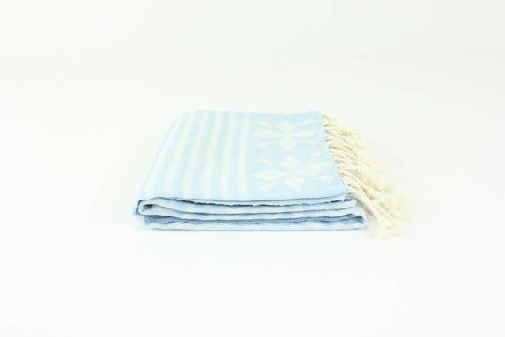 Light Blue Premium Turkish Peshtemal Fouta Towel