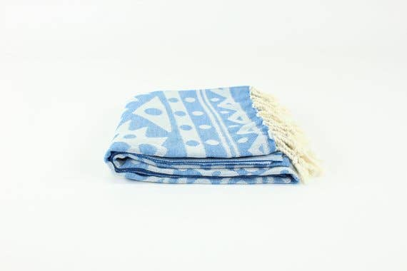Blue Premium Turkish Peshtemal Fouta Towel