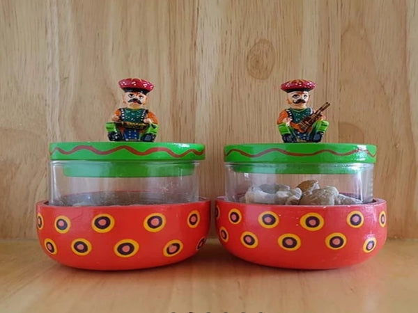 Beautiful Handmade Chutney Jars (Set of 2 Jars)