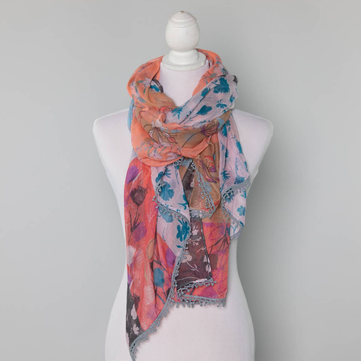 Summer Scarf - Multi Color Floral