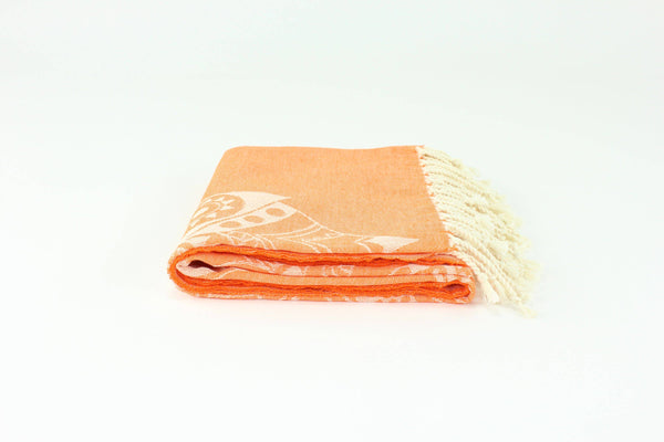 Orange Premium Turkish Peshtemal Fouta Towel