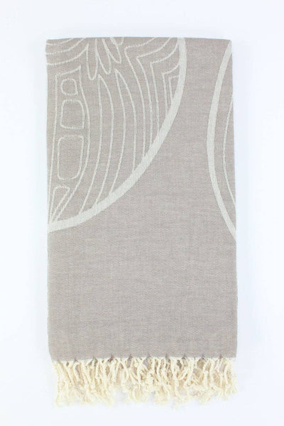 Dark Taupe Premium Turkish Peshtemal Fouta Towel