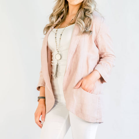 Brianna Rose Linen Jacket