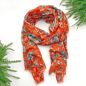 Summer Scarf - Orange Floral