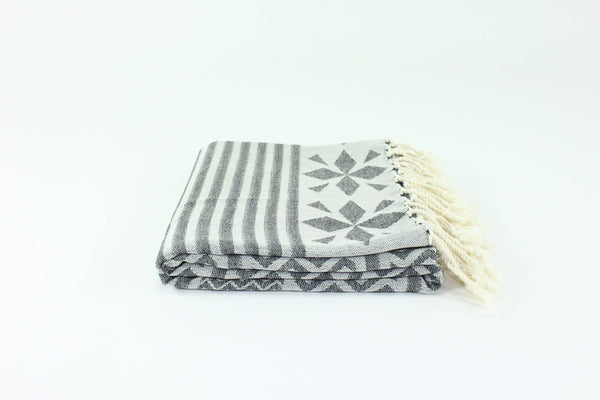 Black Premium Turkish Peshtemal Fouta Towel