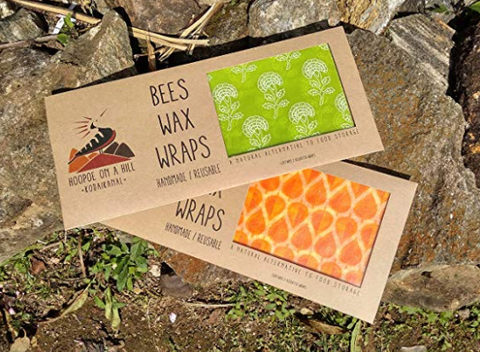 Handmade Natural Beeswax Food Wraps - 6pack