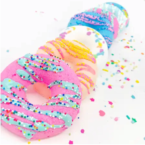 Assorted Donut Bath Bombs Limited Edition - Pack of 4