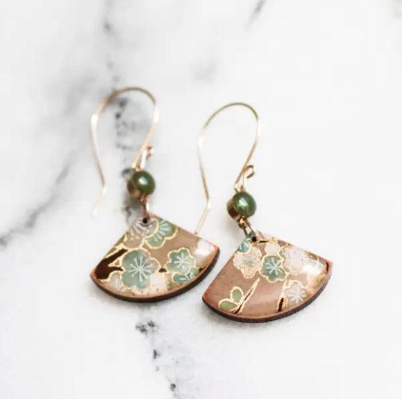 Natural Floral Fan Earrings