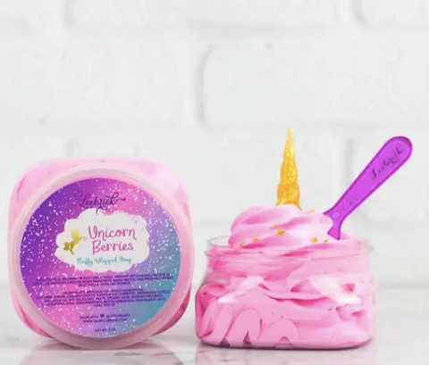Unicorn Berries Fluffy Whipped Soap - 2oz jar