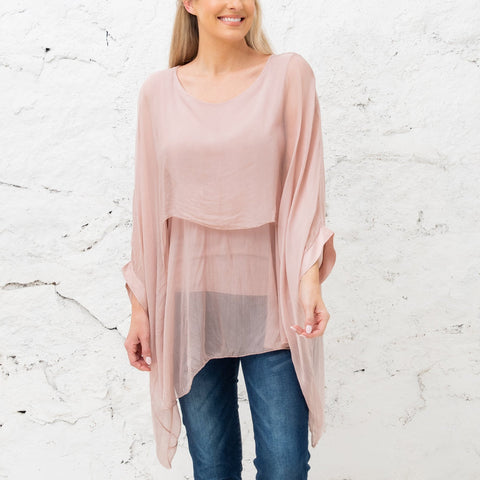 Katerina - Rose Two Layer Silk Top (Featured in Oprah's Magazine)