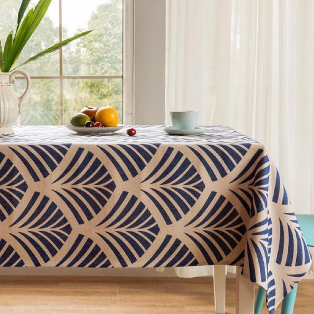 Blue Ginkgo Indoor / Outdoor Tablecloth