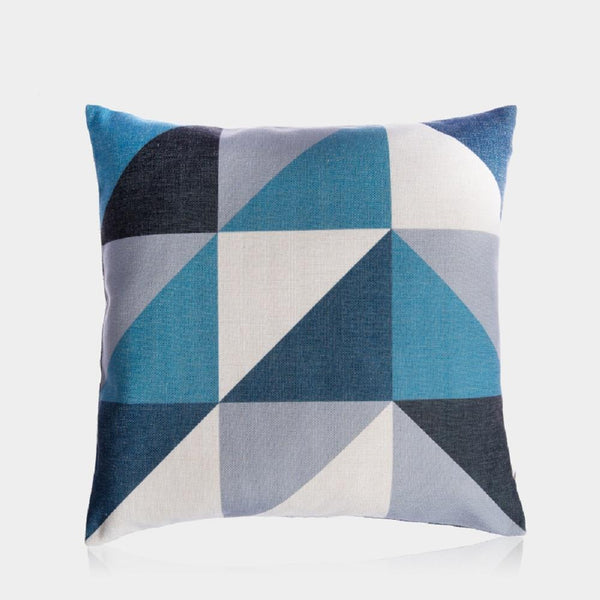 "Blue Cube Pillow Cover 18"" x 18"""