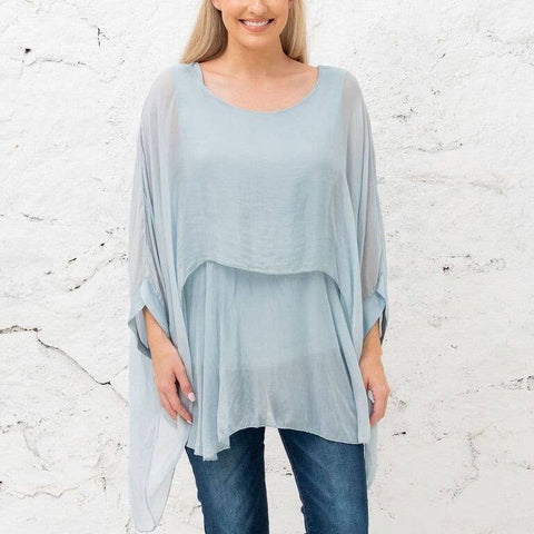 Katerina - Azul Two Layer Silk Top (Featured in Oprah's Magazine)