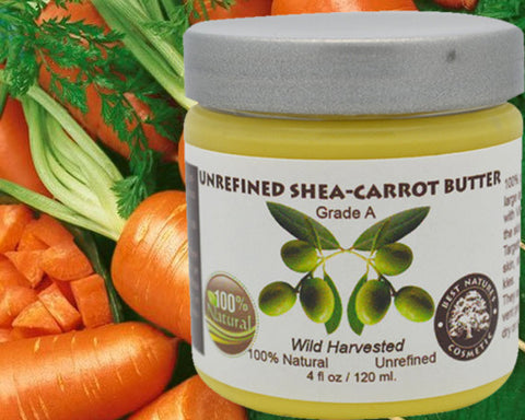 Shea Carrot  Butter  Blend. Unrefined 4oz / 120