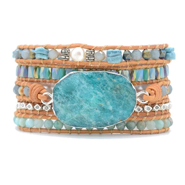 Handmade Rich Blue Amazonite Bracelet