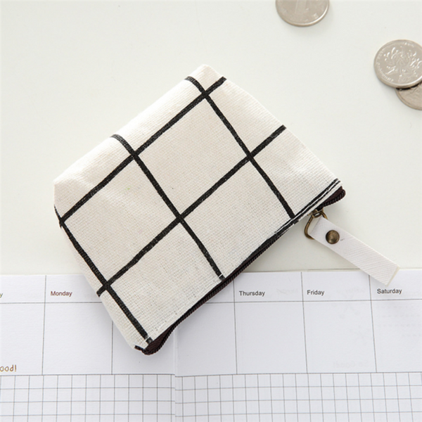 Eco-friendly Canvas Coin Purses/ Cosmetic Pouch